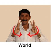 Sign Language Words Signboard